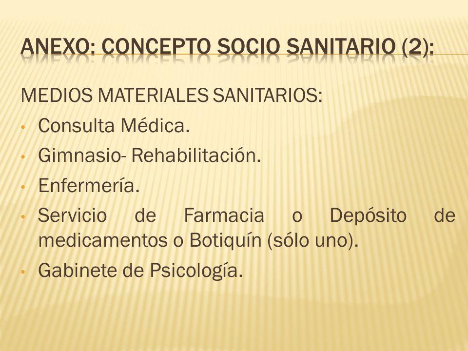ANEXO: CONCEPTO socio sanitariO (2):