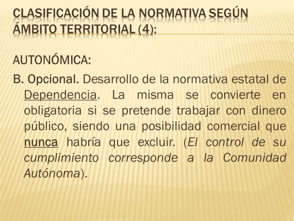 CLASIFICACIÓN DE LA NORMATIVA SEGÚN ÁMBITO TERRITORIAL (4):