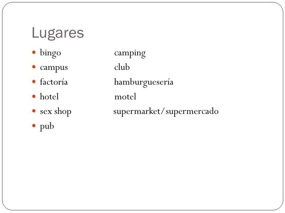 Lugares bingo camping campus club factoría hamburguesería hotel motel