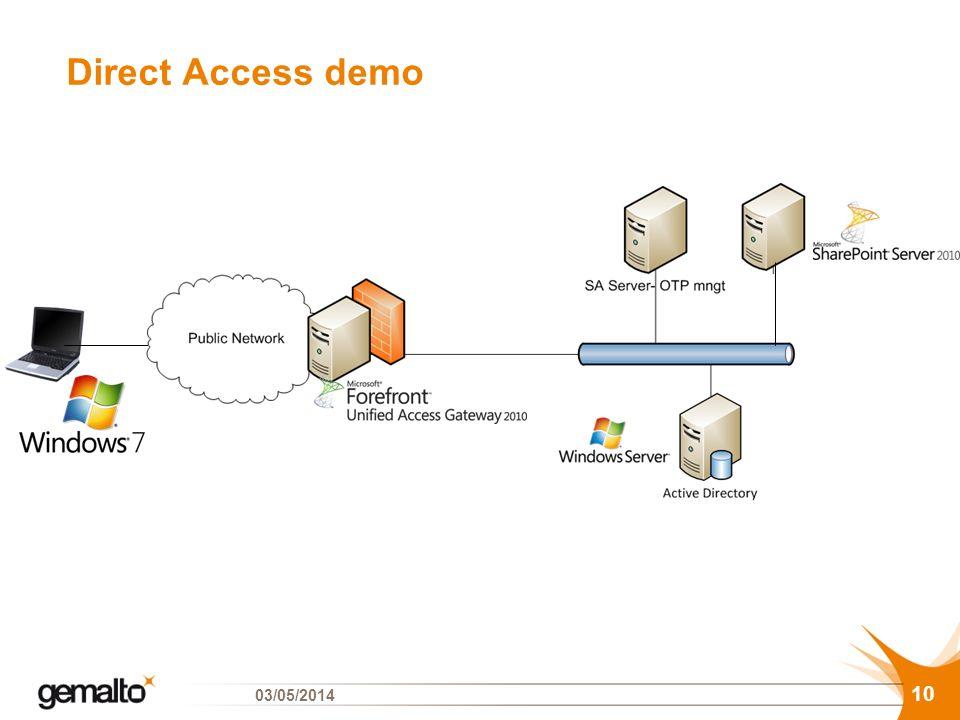 Direct Access demo 29/03/2017