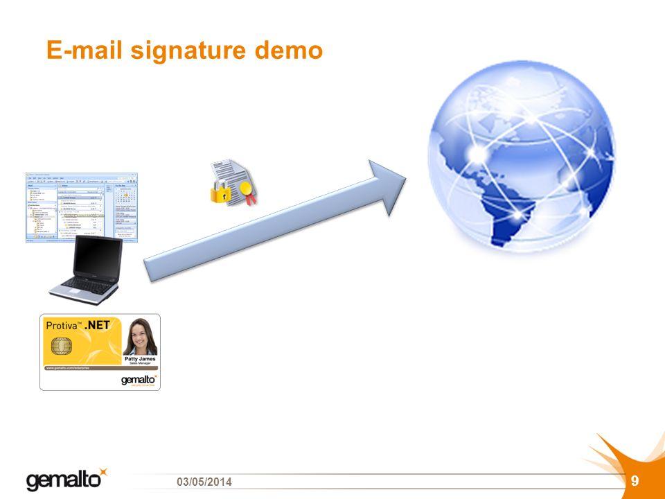 E-mail signature demo 29/03/2017