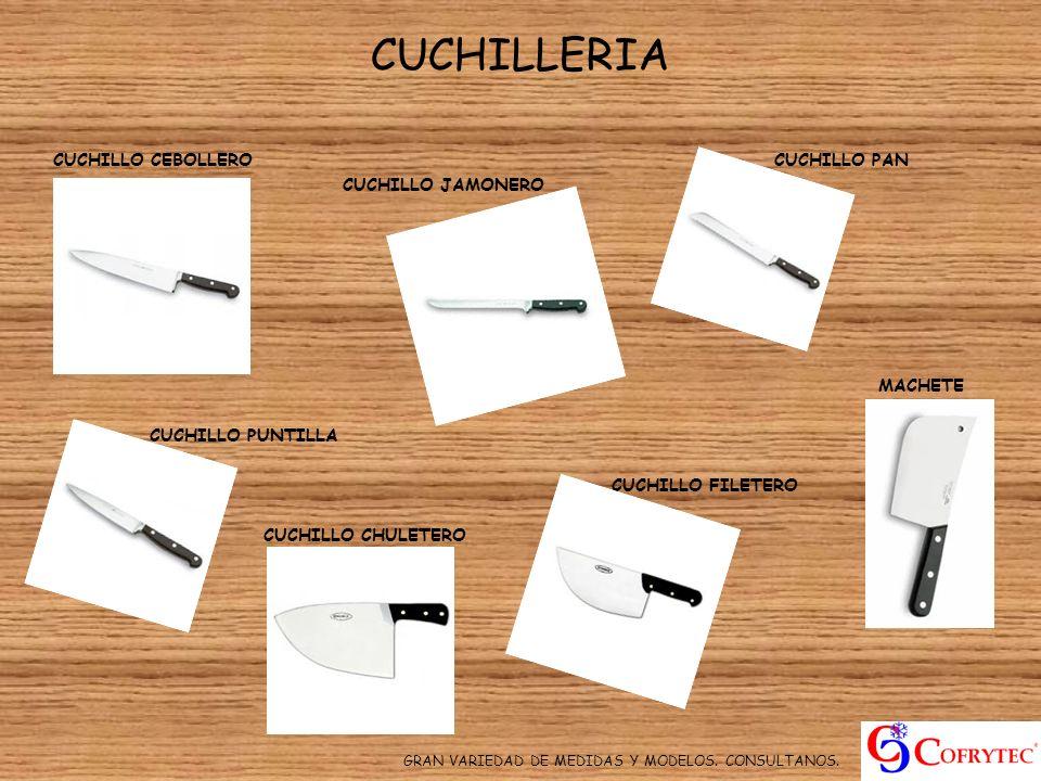CUCHILLERIA CUCHILLO CEBOLLERO CUCHILLO PAN CUCHILLO JAMONERO MACHETE