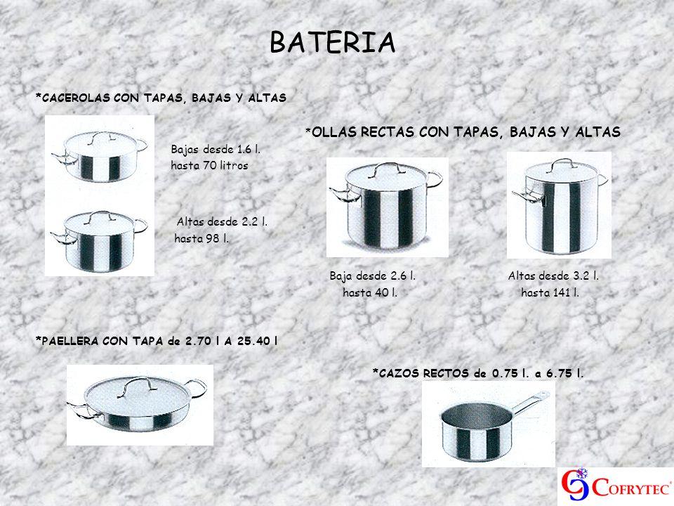 BATERIA Altas desde 2.2 l. Baja desde 2.6 l. Altas desde 3.2 l.