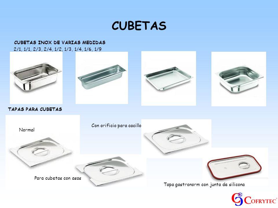 CUBETAS CUBETAS INOX DE VARIAS MEDIDAS