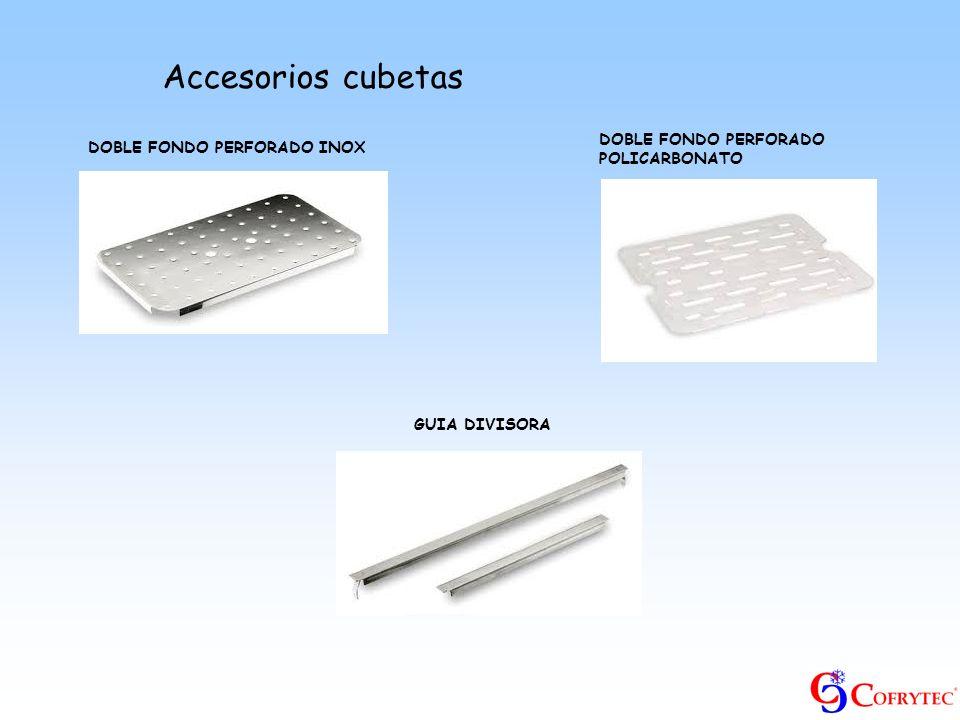 Accesorios cubetas DOBLE FONDO PERFORADO INOX GUIA DIVISORA