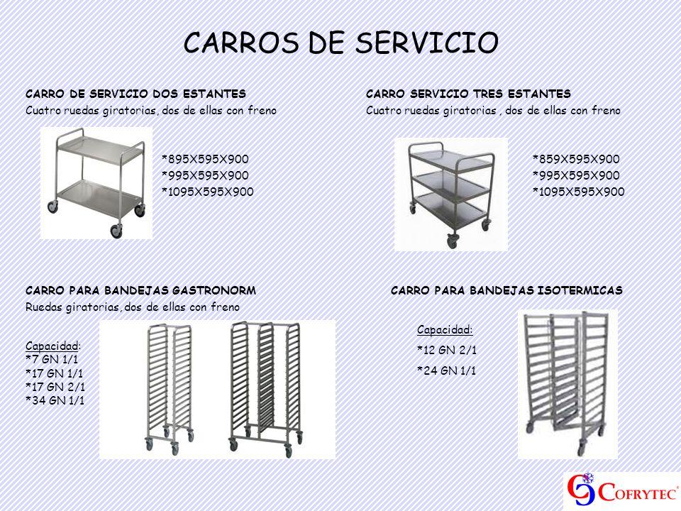 CARROS DE SERVICIO CARRO DE SERVICIO DOS ESTANTES CARRO SERVICIO TRES ESTANTES.