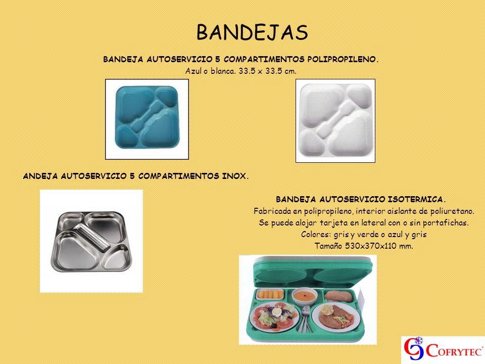 BANDEJAS BANDEJA AUTOSERVICIO 5 COMPARTIMENTOS POLIPROPILENO.