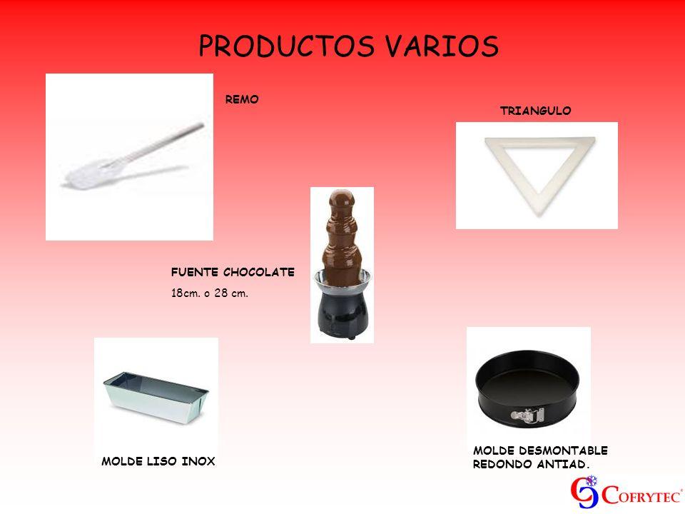 PRODUCTOS VARIOS REMO TRIANGULO FUENTE CHOCOLATE 18cm. o 28 cm.