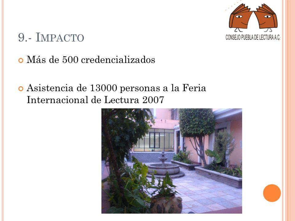 9.- Impacto Más de 500 credencializados