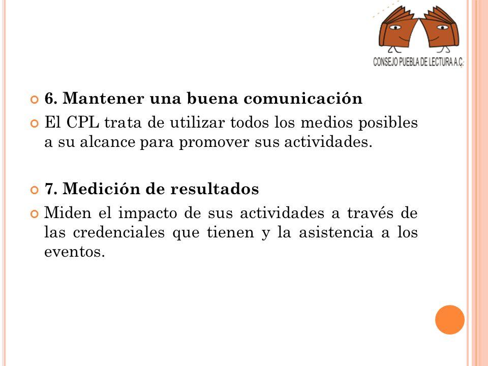 6. Mantener una buena comunicación