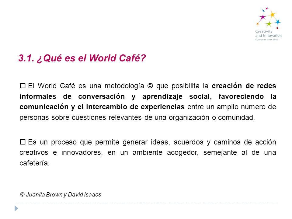 3.1. ¿Qué es el World Café