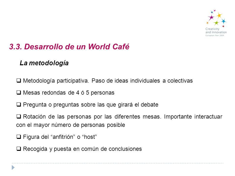 3.3. Desarrollo de un World Café