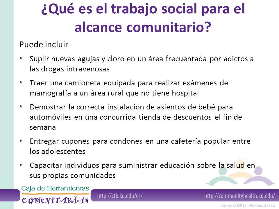 ¿Qué es el trabajo social para el alcance comunitario