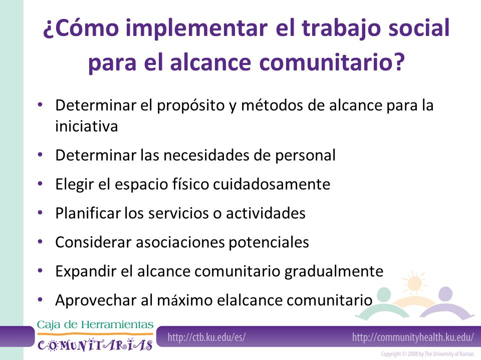 ¿Cómo implementar el trabajo social para el alcance comunitario