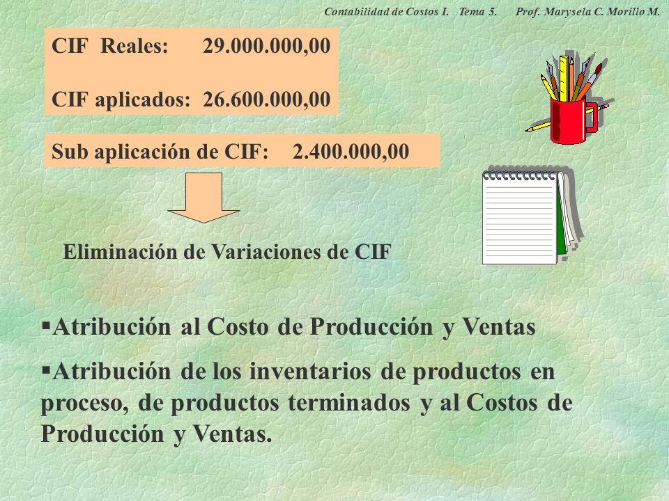 Atribución al Costo de Producción y Ventas