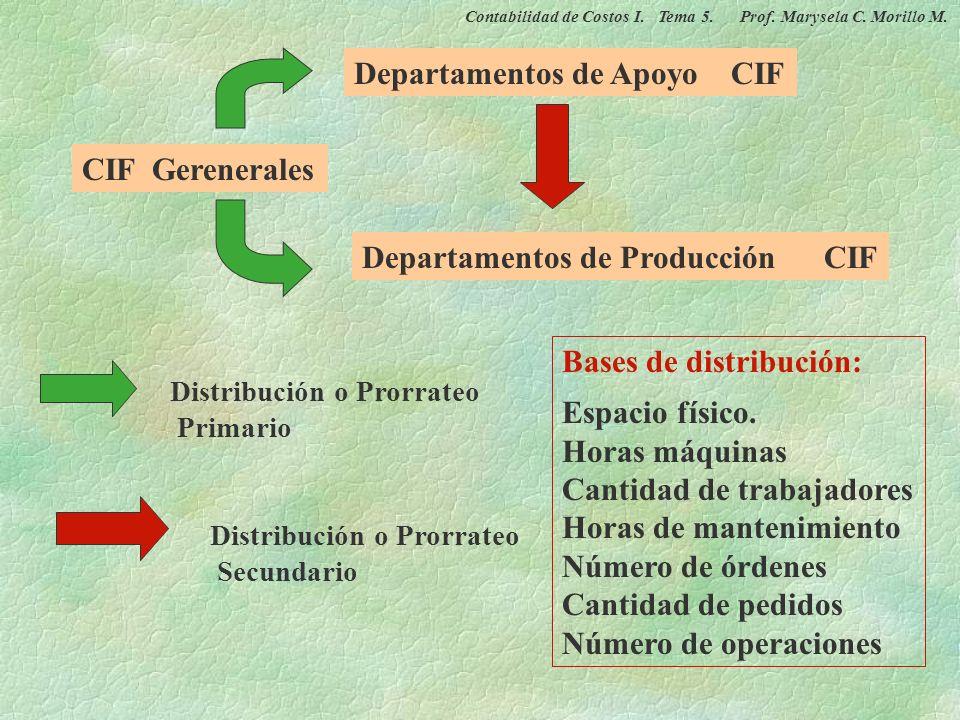 Departamentos de Apoyo CIF