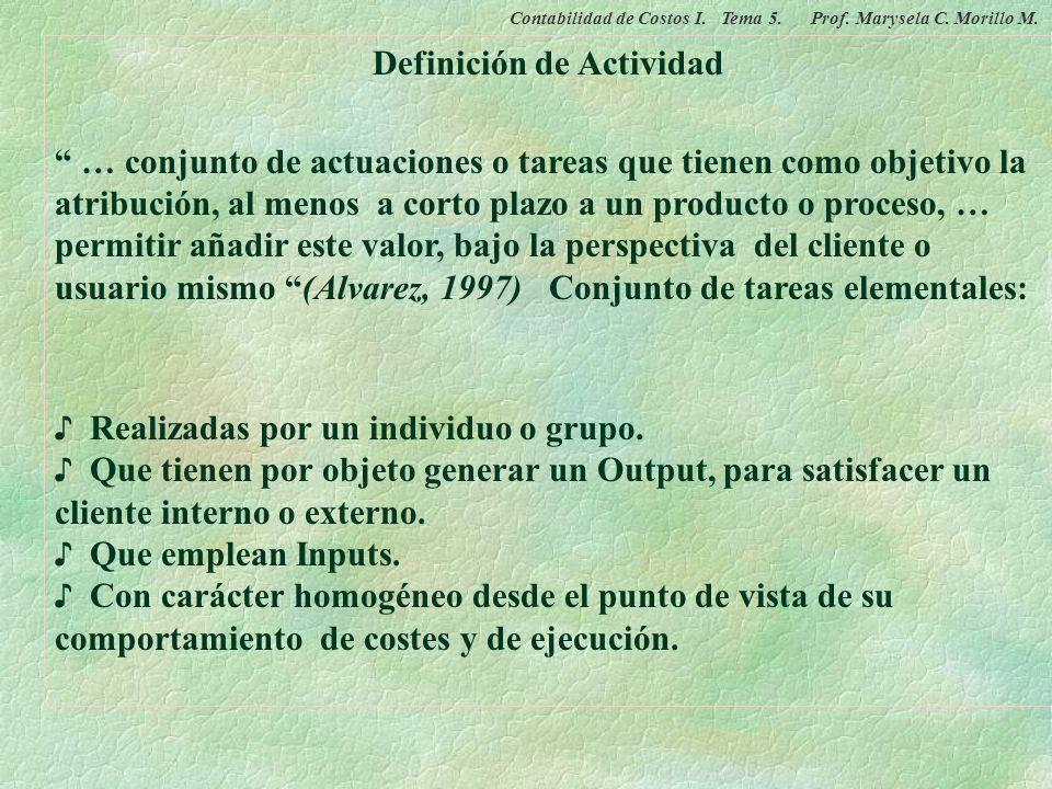 Definición de Actividad