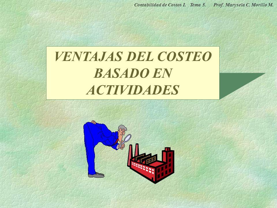 VENTAJAS DEL COSTEO BASADO EN ACTIVIDADES