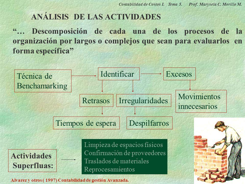 ANÁLISIS DE LAS ACTIVIDADES