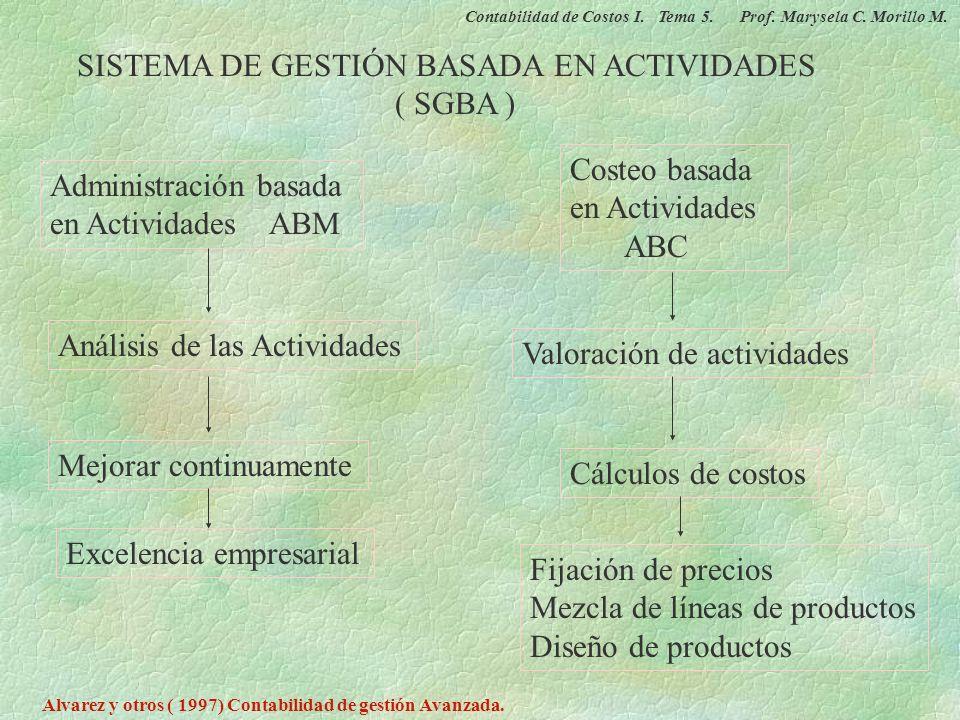 SISTEMA DE GESTIÓN BASADA EN ACTIVIDADES