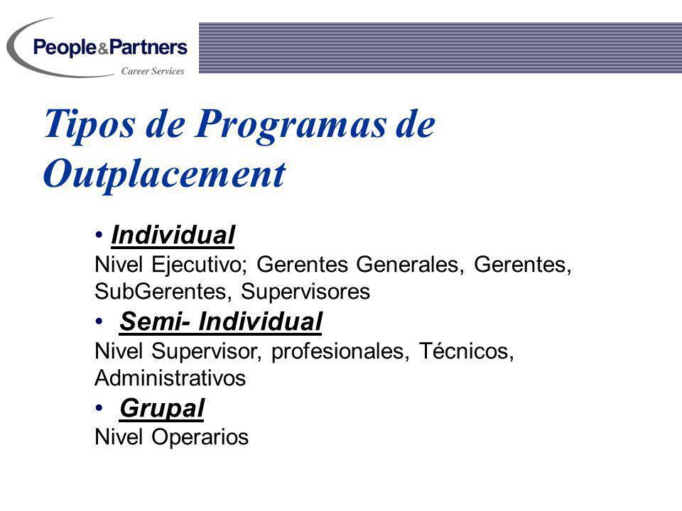 Tipos de Programas de Outplacement
