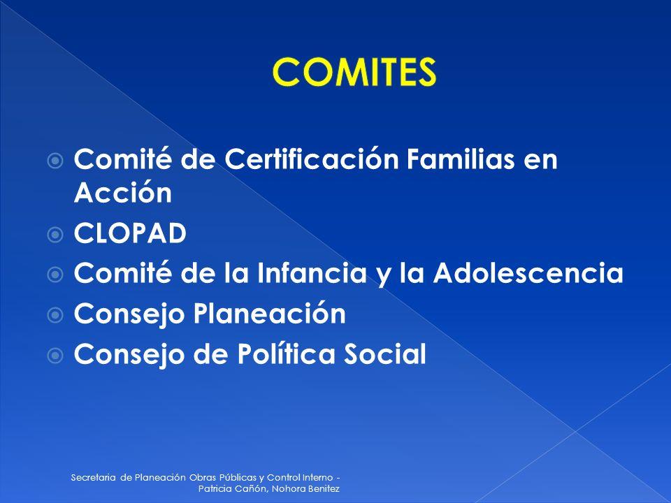 COMITES Comité de Certificación Familias en Acción CLOPAD