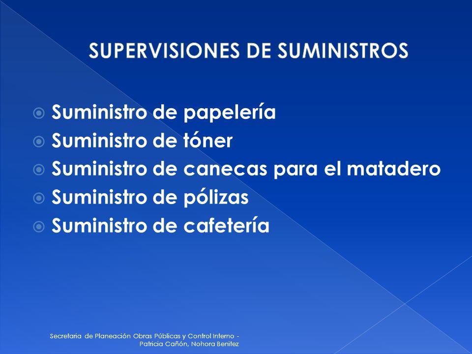 SUPERVISIONES DE SUMINISTROS