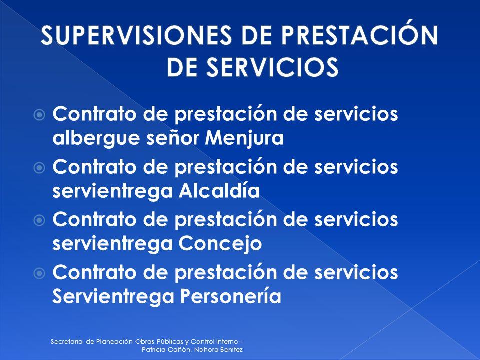 SUPERVISIONES DE PRESTACIÓN DE SERVICIOS