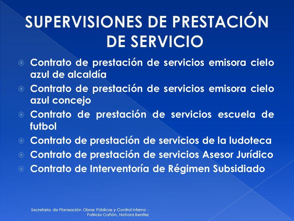 SUPERVISIONES DE PRESTACIÓN DE SERVICIO