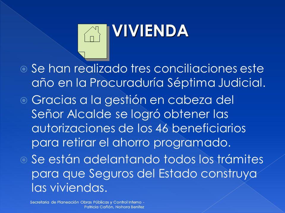 VIVIENDA Se han realizado tres conciliaciones este año en la Procuraduría Séptima Judicial.