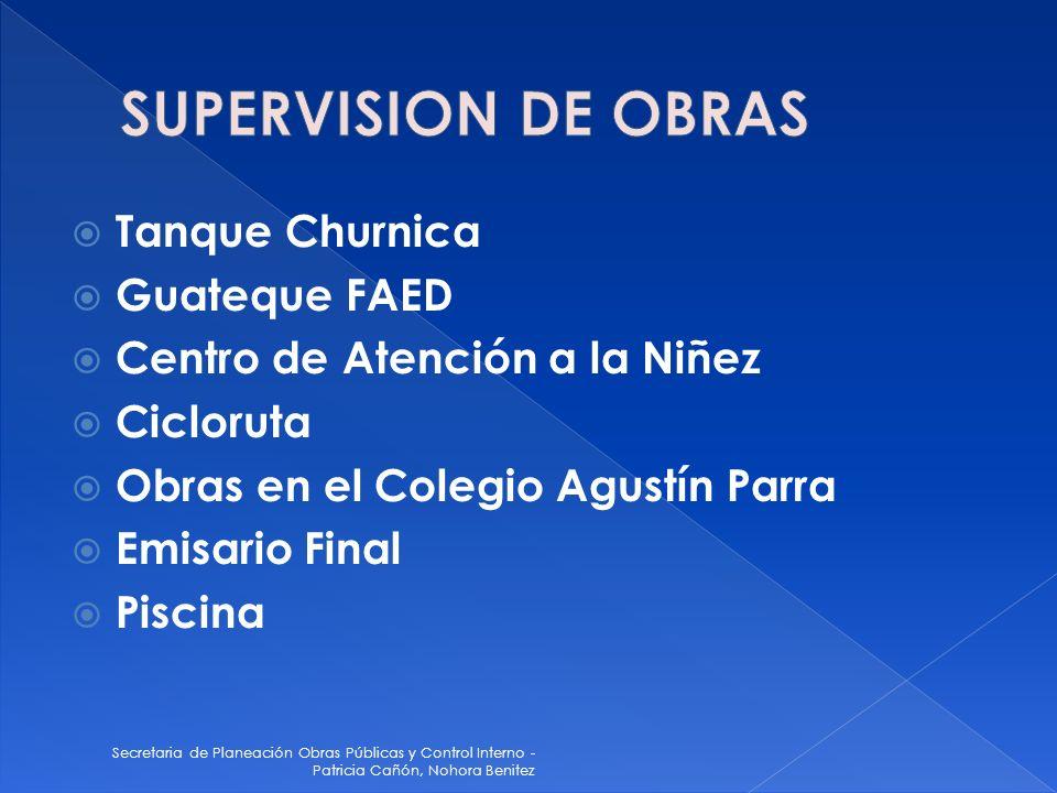 SUPERVISION DE OBRAS Tanque Churnica Guateque FAED