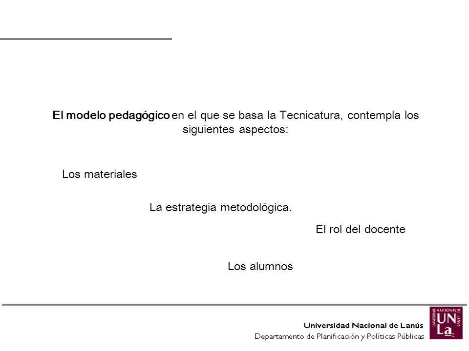 La estrategia metodológica.