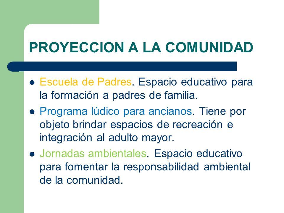 PROYECCION A LA COMUNIDAD