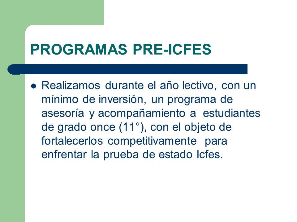 PROGRAMAS PRE-ICFES