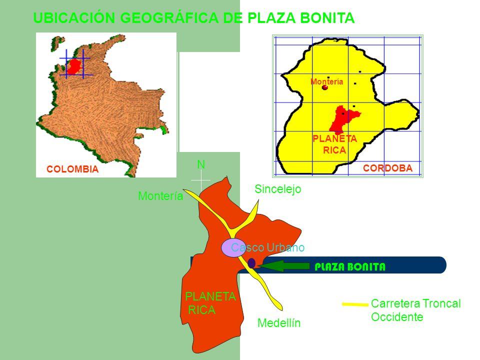 UBICACIÓN GEOGRÁFICA DE PLAZA BONITA