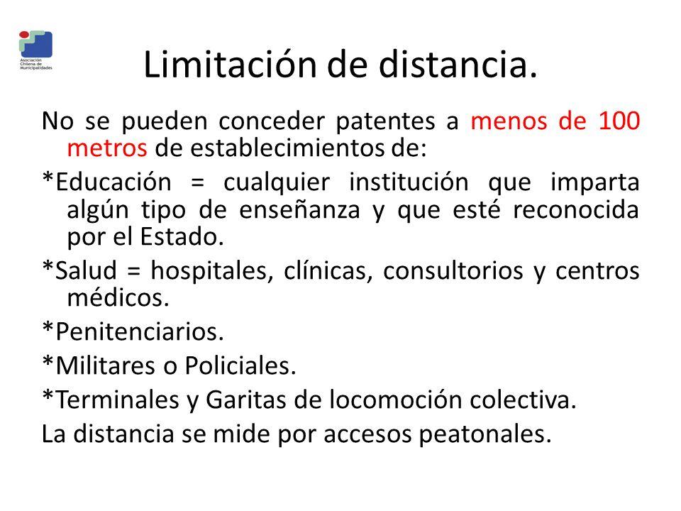 Limitación de distancia.