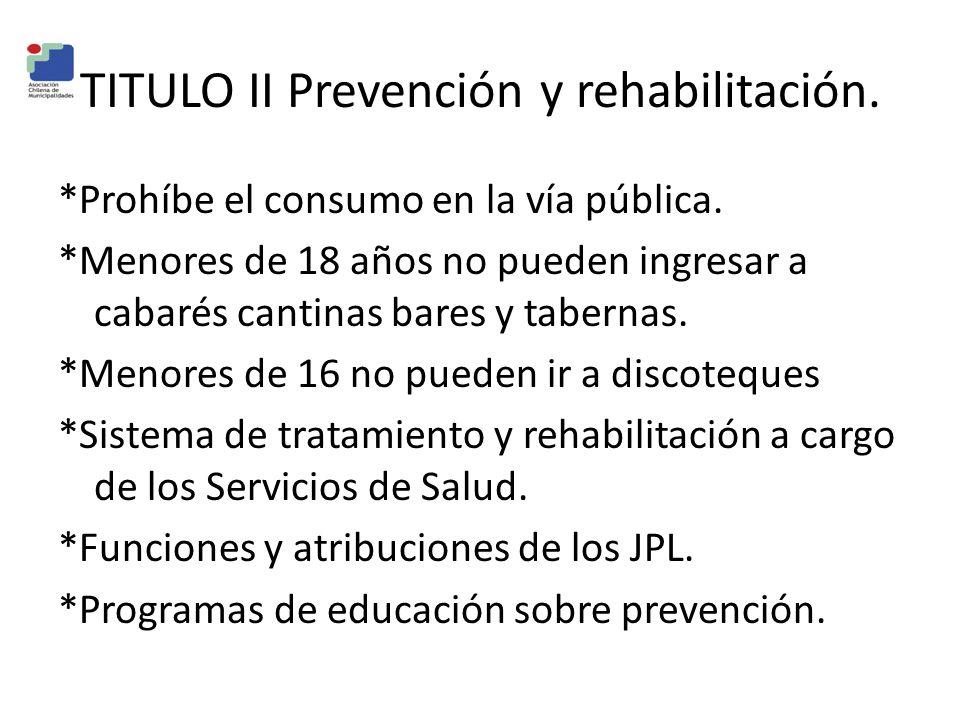 TITULO II Prevención y rehabilitación.