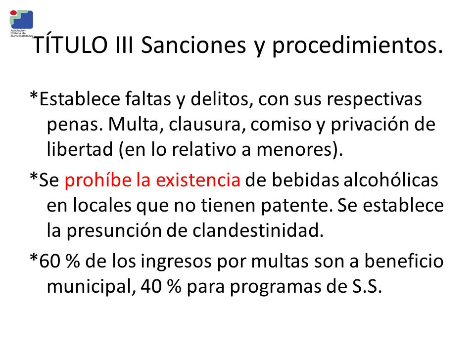 TÍTULO III Sanciones y procedimientos.