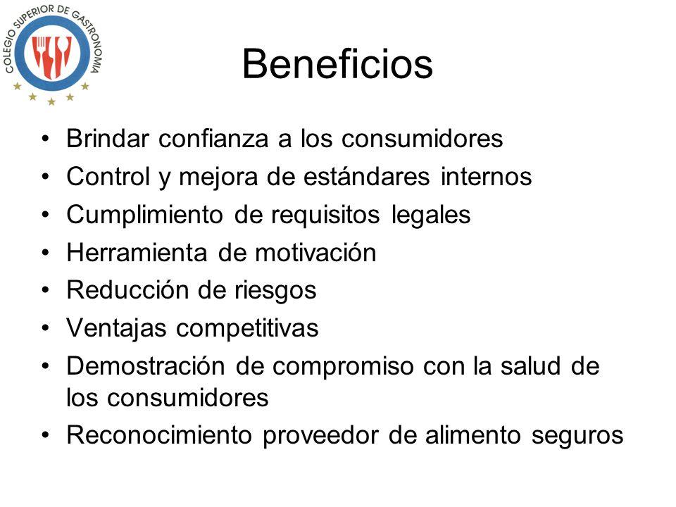 Beneficios Brindar confianza a los consumidores