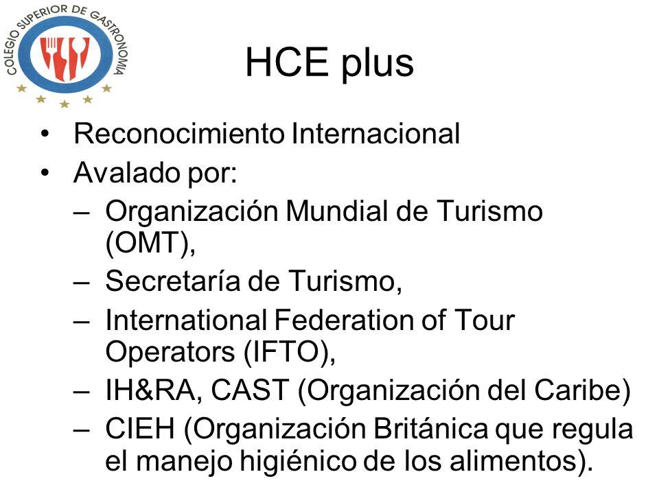 HCE plus Reconocimiento Internacional Avalado por: