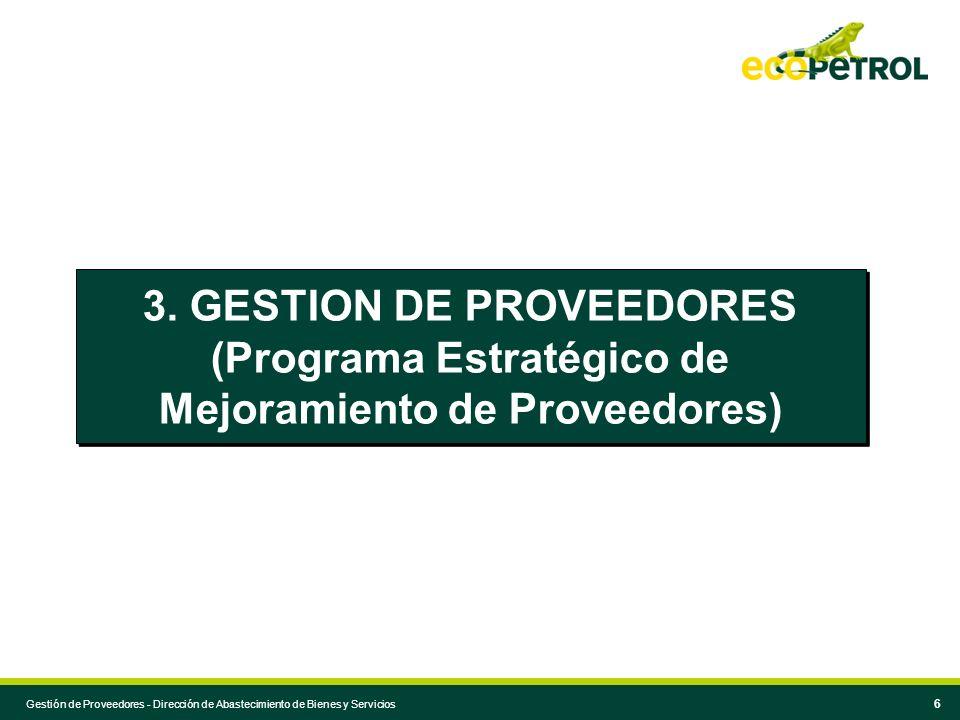 3. GESTION DE PROVEEDORES