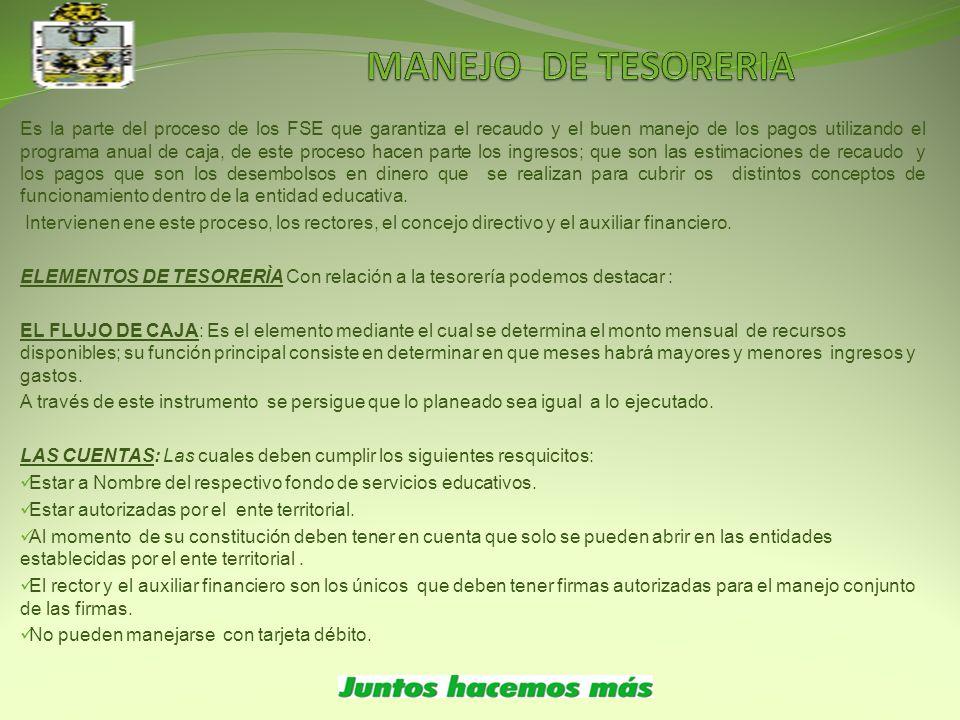 MANEJO DE TESORERIA