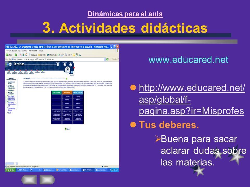 Dinámicas para el aula 3. Actividades didácticas