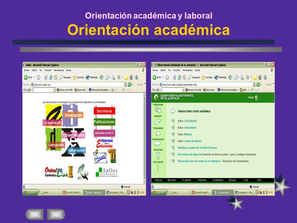 Orientación académica y laboral Orientación académica