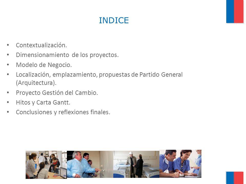 INDICE Contextualización. Dimensionamiento de los proyectos.