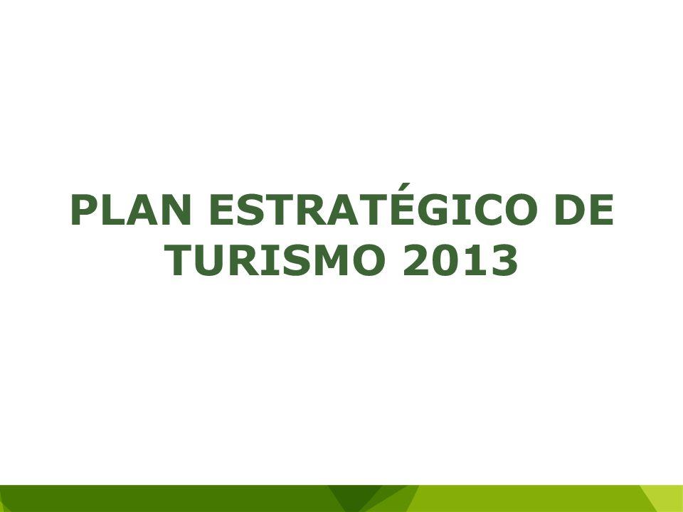 PLAN ESTRATÉGICO DE TURISMO 2013
