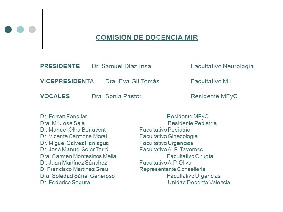 COMISIÓN DE DOCENCIA MIR
