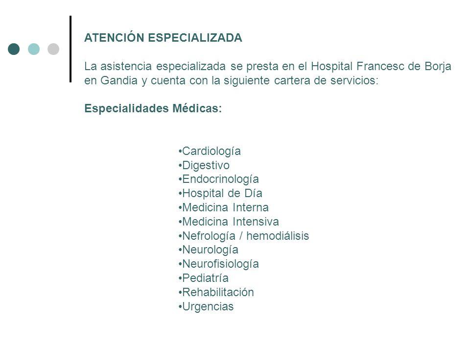 ATENCIÓN ESPECIALIZADA