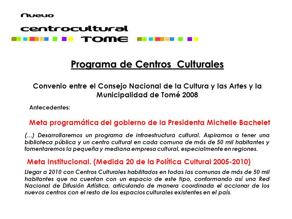 Programa de Centros Culturales