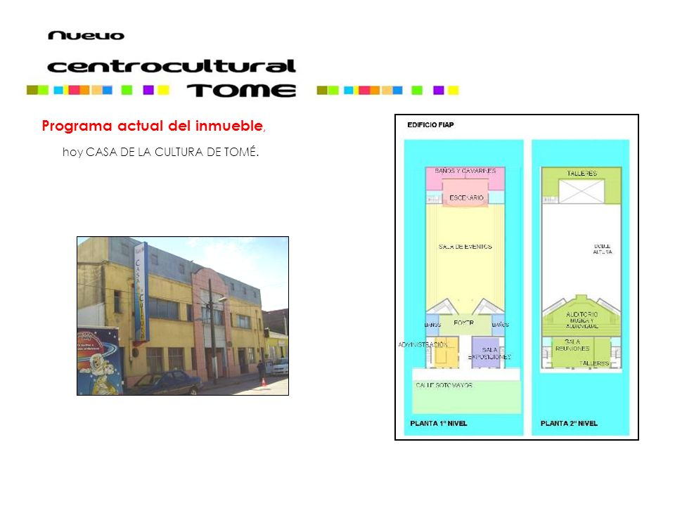 Programa actual del inmueble,